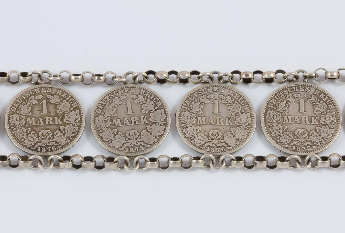 Münzkette 1 Mark 12 Glieder