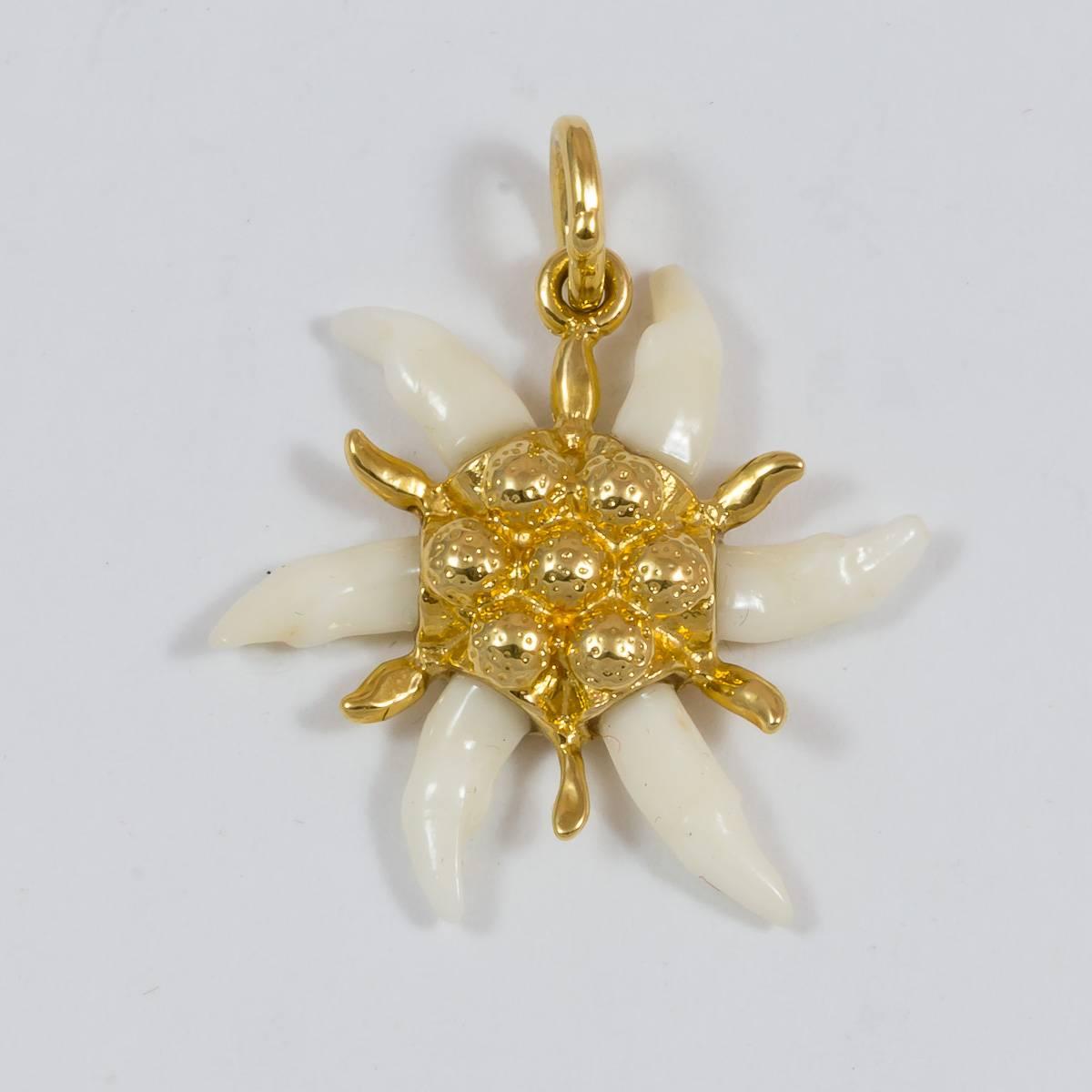 Marder-Edelweiss vergoldet