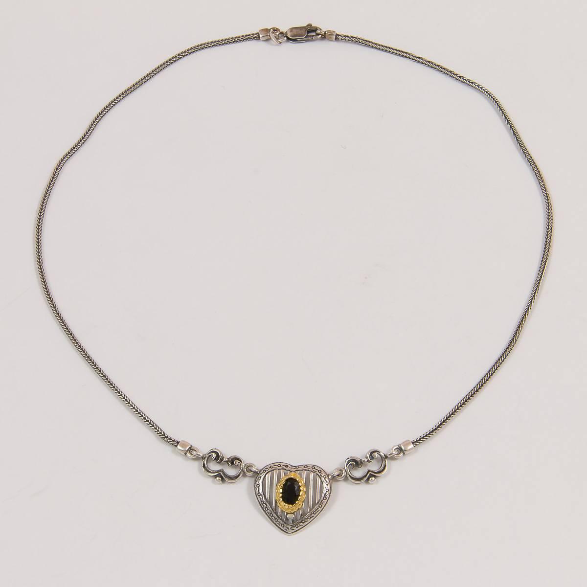 Herz/Granat-Collier